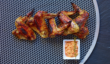 Chicken Wings with Spiced Aioli