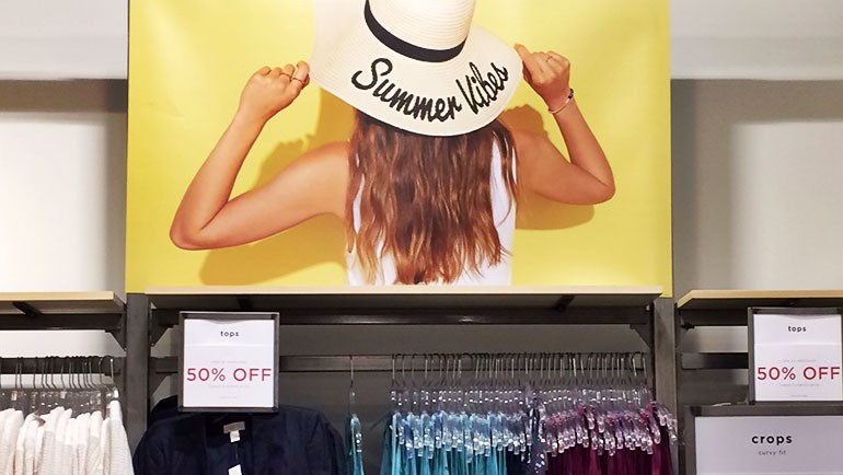 Hot Summer Hits from The Sandy Retail Visual Merchandising