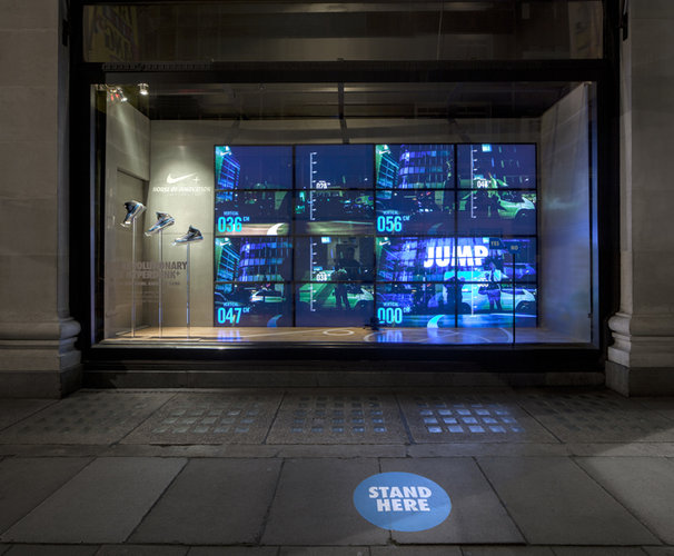 Interactive Nike Window Display
